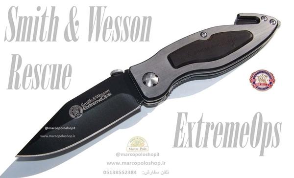 تصویر چاقو جیبی  Smith And Wesson Extreme Ops Rescue Knife